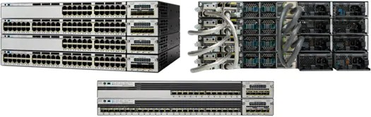 Cisco Catalyst 3750-X Series Switches Front and Back