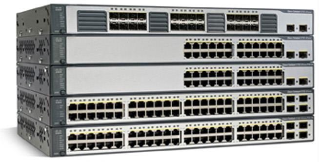 Cisco Catalyst 3750 v2 Switches Front
