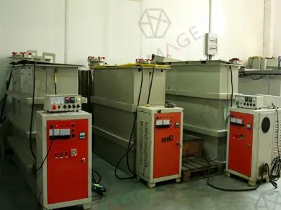 electroforming system to get nickel hologram master